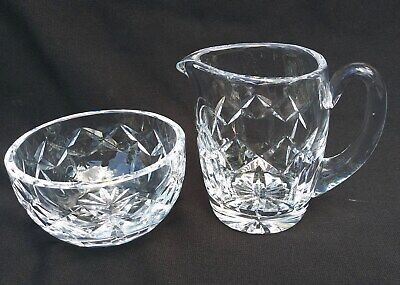 from Estate WATERFORD FINE CRYSTAL SUGAR & CREAMER beautiful LISMORE pattern