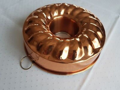 Kranzkuchenform aus Kupfer, Wreath cake mold made of copper