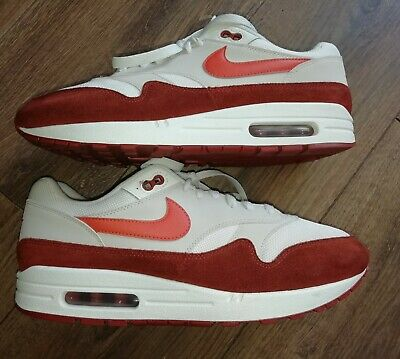 release date: e5d16 aa7fc Mens Nike Air Max 1 Trainer Sail Vintage Coral Mars Stone Size 10 UK