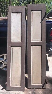 Vintage/Antique Pair Wooden Window Shutters Architectural Salvage 99 X 14