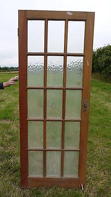 GL25a (29 3/4 x 77) Modern Wooden Door with Fifteen Glass Panels