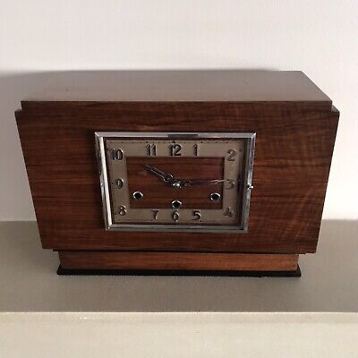 Antique Art Deco Mantel Clock Norland Westminster Dual Chime British 1930s