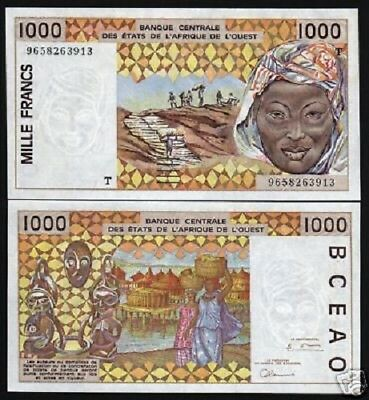 Togo 500 Francs 2017 P-819T Mask Hippos Unc W.A.S West African States
