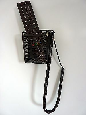 TV Remote Control Holder for Single Remotes c/w Curly Cable