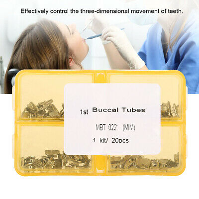 Dental Oral Orthodontic Non-Conv Bonding Buccal Tube 1st Molar 20 Sets/box