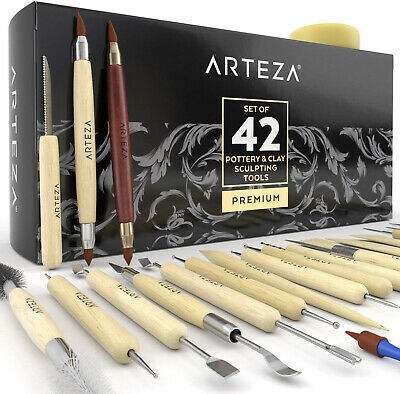 Arteza Pottery and Clay Sculpting Tools (Set Of 42)