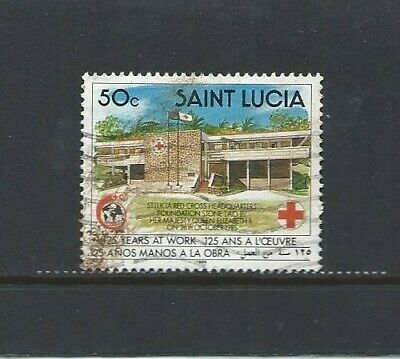 ST LUCIA 1989 125th Anniversary of the International Red Cross 15c Used stamp