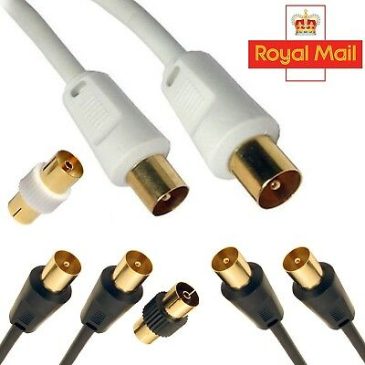 1M - 50M Male to Male Coaxial Aerial Cable RF Lead For Digital TV Short or Long