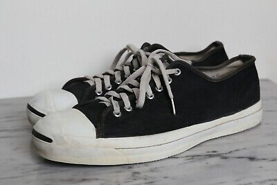 ad87bd017d7a CONVERSE Vintage 80 s Jack Purcell Black Sneakers Made in USA Sz 13 green  sole