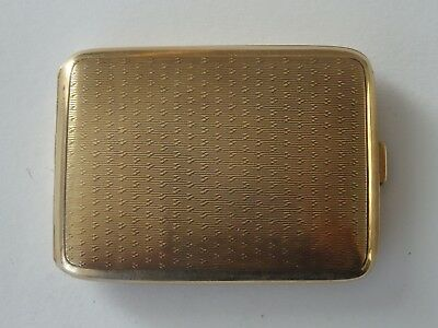 Good Quality, Rare English Hallmarked 9Ct Solid Gold Vesta Case,