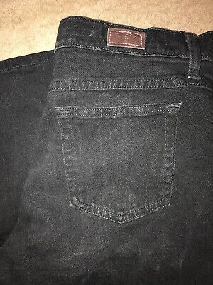 973c7448 Womens Black Denim Lee Riders Relaxed Fit Jeans Pants Comfort Size 16P 36X29