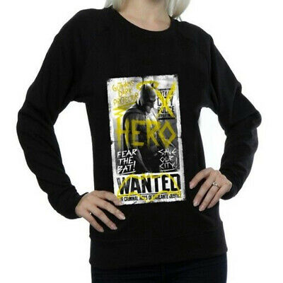 DC Comics Women's Batman v Superman Wanted Poster Sweatshirt Official Licensed