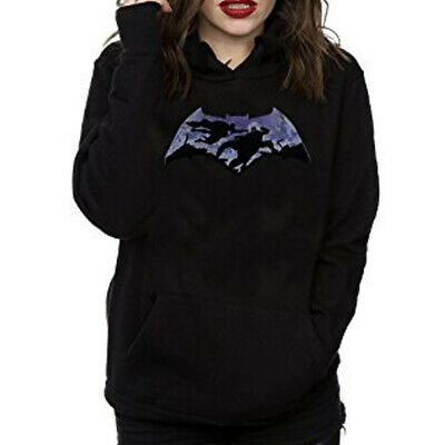DC Comics Women's Batman v Superman Silhouette Pullover Hoodie Official Licensed