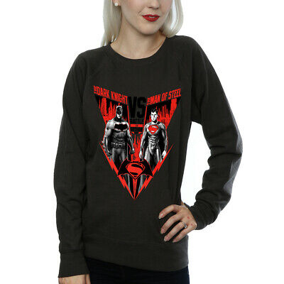 DC Comics Women's Batman v Superman Battle Sweatshirt Charcoal Official Licensed