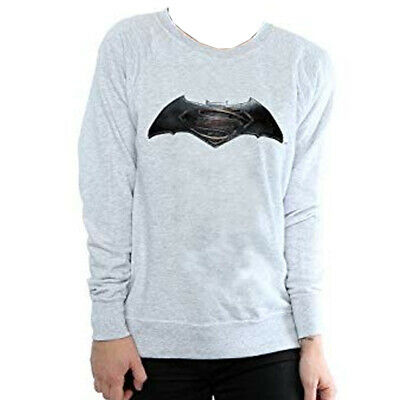 DC Comics Boys Batman v Superman Kids Grey Sweatshirt Official Licensed