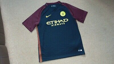 77df463f Men's Nike Manchester City Away 2016-17 Football Shirt Size Large in Black  / Red