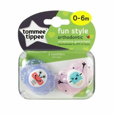 Tommee Tippee Closer to Nature Purple Orthodontic Soothers Dummy's - 2 Pack