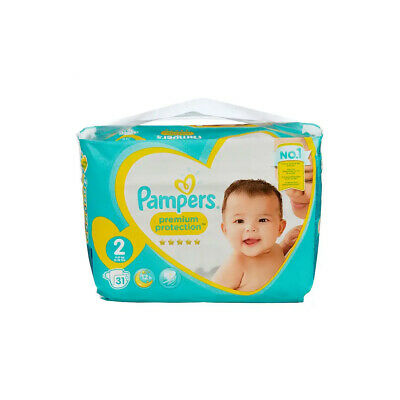 Pampers New Baby Nappies Size 2 Carry Pack Wetness Indicator 3kg-6kg Pack of 31