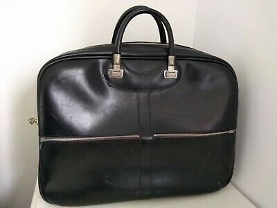 Vtg 60s 70s Black VINYL Revelation HOLDALL MOD bowling sport bag Cheney Key