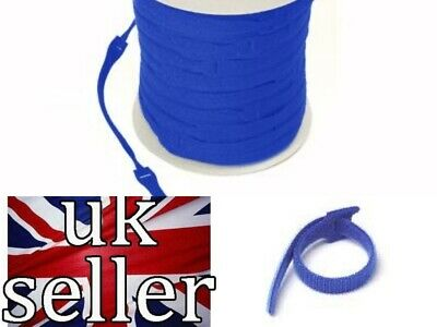 VELCRO Brand Cable Ties One Wrap Double Sided Straps in BLUE  25mm x 300mm