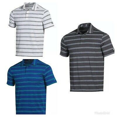 NEW Mens Under Armour Striped Golf Polo Shirt - Choose Size & Color!