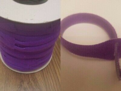 VELCRO Brand Cable Ties One Wrap Double Sided Straps in PURPLE 25mm x 300mm