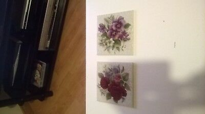 2 Vintage Wall Tiles. H & R Johnson Ltd. Cristal. 6inch.