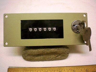 Event Counter, 6 digit, resettable with key only, 240V AC, General Controls/ITT