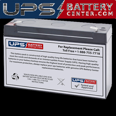 Energy Power EP-SLA6-7.2T2 6V 7.2Ah Replacement Battery