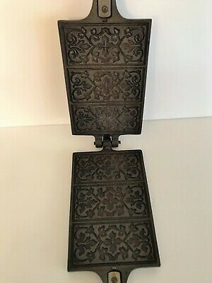 Vintage Jøtul COOKIE PRESS Pizzelle Maker Cutter French Crepe Cast Iron Norway