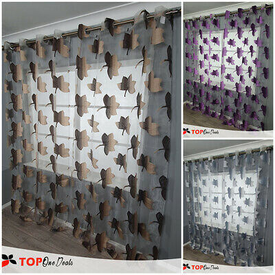 Eyelet Ring Top Voile Curtain Panel - Net Voile Curtains - Curtains & Blinds