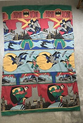 Size Single Original Batman Robin Reversible Duvet Cover Bedding DC Comics 1996