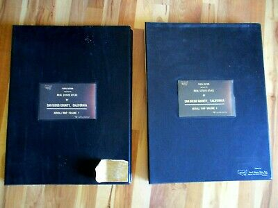 1974 10th Edition Vol. 1 and 2 Redi Real Estate Atlas Of San Diego County Maps