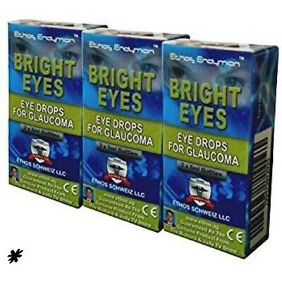 ** Ethos Bright Eyes NAC eye drops for Glaucoma – 3 Boxes 30ml *