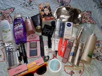 Box Of Over 40 New Mixed Beauty Items Bath/Makeup/Skincare/Hair/