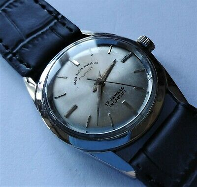 Small Vintage ANGLO SWISS WATCH CO 'CAVALRY' Wristwatch. 17 Jewels. Incabloc