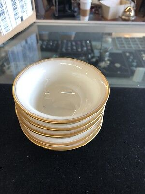 Lot of 5_Lenox A5547 China Footed Cream Soup Bouillon Insert Bowls - NICE!