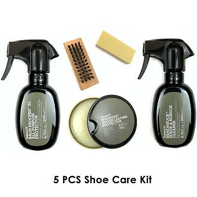 Timberland Shoe Care Set 5 pcs Balm Proofer Renewbuck Dry Cleaning Kit Wax