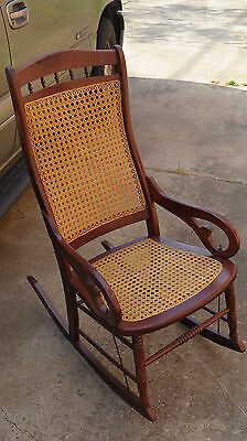 Antique RESTORED Lincoln Rocking Chair Colonial Rocker *Local Pickup HOUSTON TX*