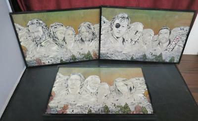 Lot of 3 Walking Dead Mount Rushmore Framed Prints
