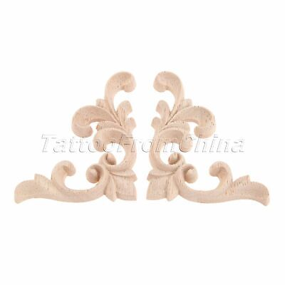 European Style Wood Carved Decal Corner Frame Onlay Applique Door Decoration DIY