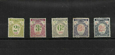 Australia - Qld Tax Instalment Stamps. 2D To 2/- .Mainly No Gum