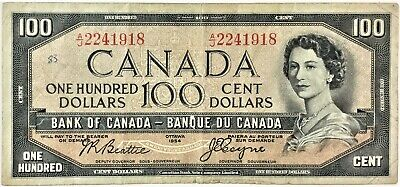 1954 Canada Devils Face $100 Dollar Banknote Beattie | Towers-See details #35584