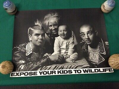 "VINTAGE "" EXPOSE YOUR KIDS TO WILDLIFE "" POSTER FROM THE 1990's"
