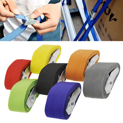 1-6M Travel Tie Down Strap Strong ratchet Belt Luggage Bag Cargo Lashing Buckle