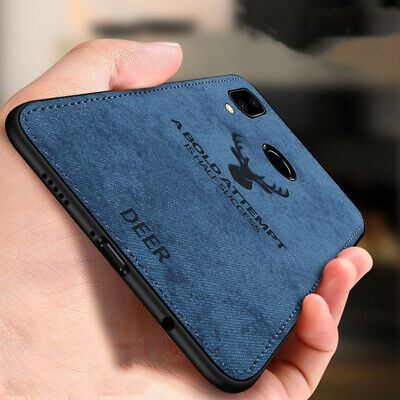 For Xiaomi Redmi Note 7 Case Fabric Cloth Leather Soft Silicone TPU Hard Cover