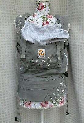 ERGO BABY Original Galaxy Gray Baby Carrier Infant-Toddler Multi-Position EUC