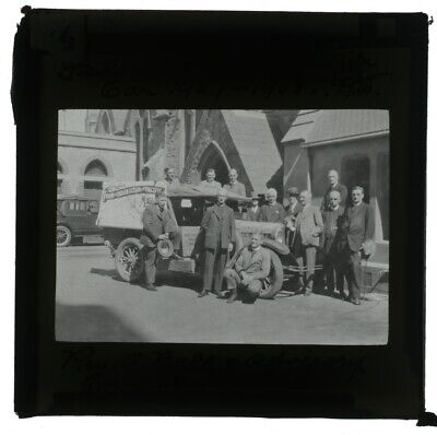 1927 B/w Glass Lantern Slide Federal Inland Mission Car Rev.bell & Committee Z97