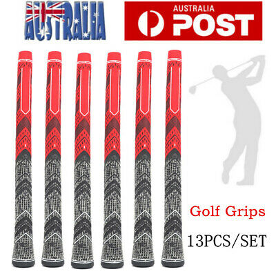13PCS Golf Grips Golf irons Club Grips MCC Multi Compound Cord Standard Red