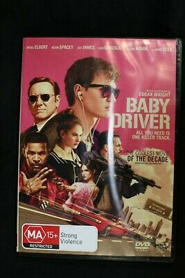 Baby Driver - Kevin Spacey Ansel Elgort Jamie Foxx - Pre Owned - R4- (D440)